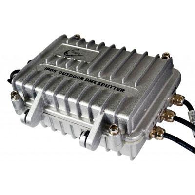 Distribuidor y amplifficador DMX IP65 triton blue