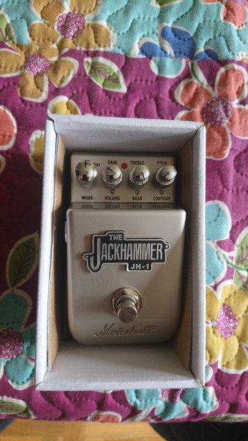 Marshall jackhammer overdrive distorsión