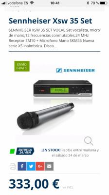 Micrófono Inalámbrico Sennheiser Xsw 35