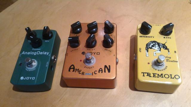 Joyo Analog Delay + Joyo American Sound + HB Tremolo