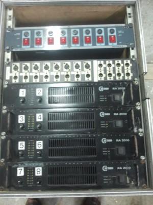 Rack de amplificacion con 4 etapas C AUDIO RA2000