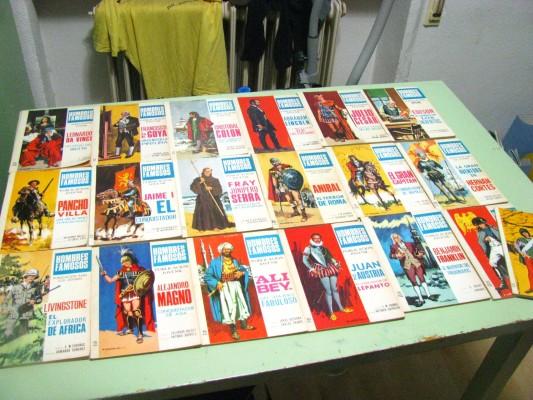 """COMICS """"HOMBRES FAMOSOS"""" de principios de los 70"""