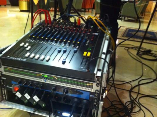 Soundcraft M8, ecualizador digital Alesis, multiefectos lexicon