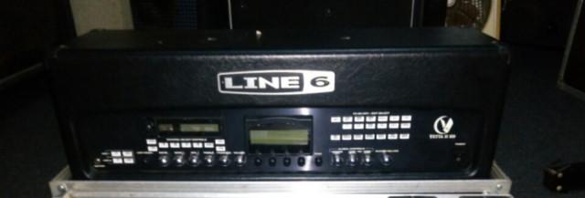 CABEZAL LINE6 VETTA II HD 300W, FBV CONTROLADORA Y SUS 2 FLYCASE.