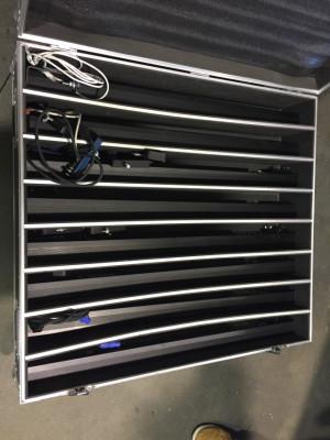 16 barras led pixelables rgb con flightcase
