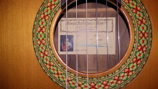 Guitarra Clasica electrificada Manuel Rodriguez
