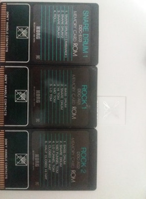 tarjetas de Korg DDD1   x3