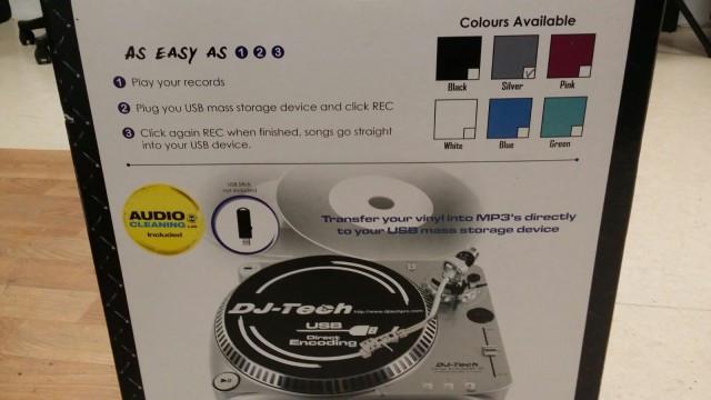 DJ Tech giradiscos con conversor a mp3
