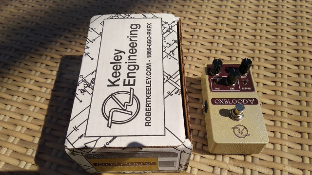 Keeley OxBlood    IMPECABLE   Overdrive-Boost