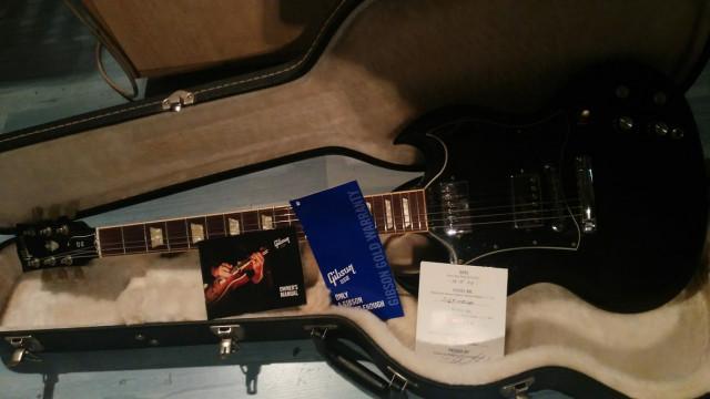 Gibson Sg Standar Usa 2010 ,papeles y estuche .