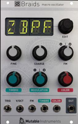 Mutable Instruments Braids (2015) + Magpie Black Panel