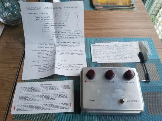 Klon Centaur Silver + documentos + Cable/Adaptador (todo original)