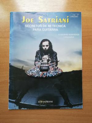 Joe Satriani, secretos de mi técnica para guitarra
