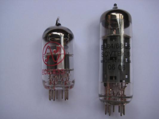 : Pareja de Valvulas para Amplificadores