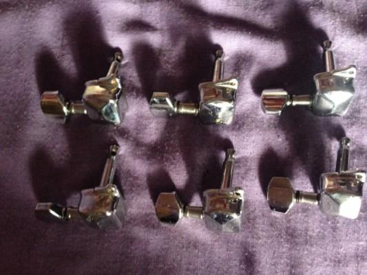 Straplocks Dunlop,Clavijero chrome, golpeador, tapa,  ...