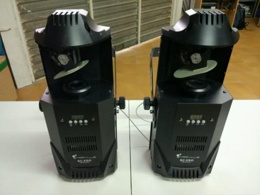 4 scanner Stairville SC-X50 (2 MKI y 2 MKII)