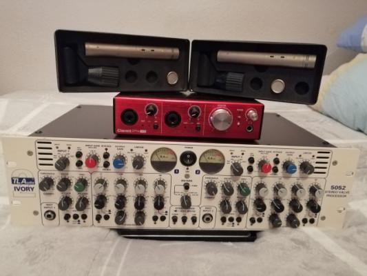 TL-Audio Ivory II 5052 - Focusrite Clarett 2Pre USB - 2 Rode NT55....