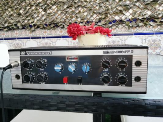Dynacord Eminent II años 60, amplificador mezclador a válvulas