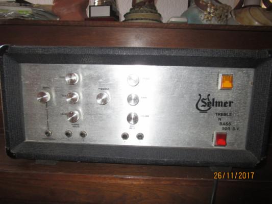 SELMER Treble and Bass RSV 50 W de los 70's