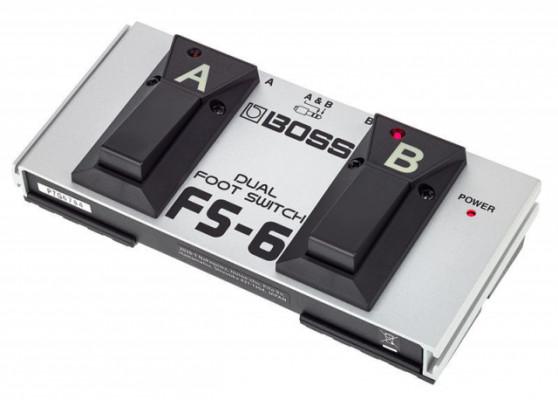 Pedal Boss FS-6 (o cambio por bolsa de rack de 4 unidades)