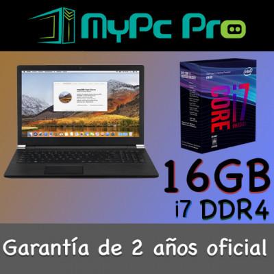 Portátil Hackintosh Mac Os Pro intel i7 16 GB RAM 250 GB SSD 15,6