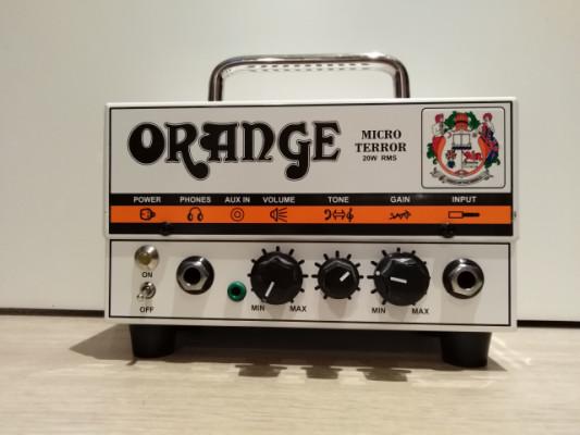 Orange Micro Terror con bolsa, pantalla y válvula Mesa Boogie