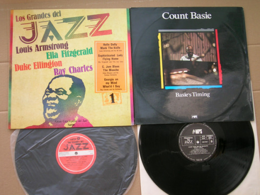 2 VINILOS JAZZ , C. BASIE, RAY CHARLES, DUKE ELLINGTON...