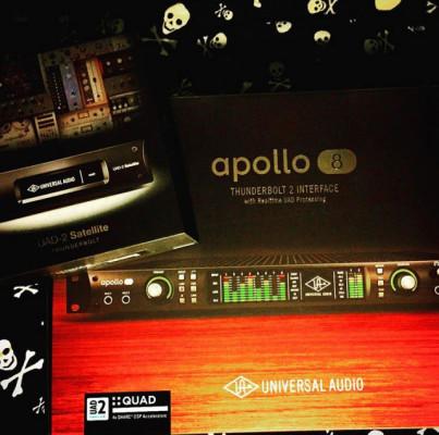 Universal Audio Apollo 8 Quad + Satellite Quad + 33 Plugins