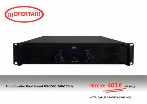 Amplificador Kool Sound US-1500 240V 50Hz