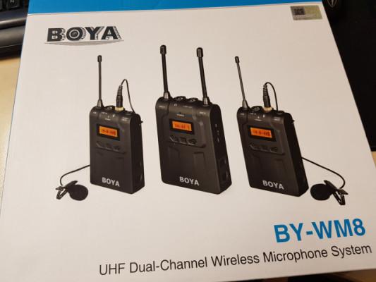 pack Micrófono Lavalier Inalámbrico UHF Boya BY-WM8