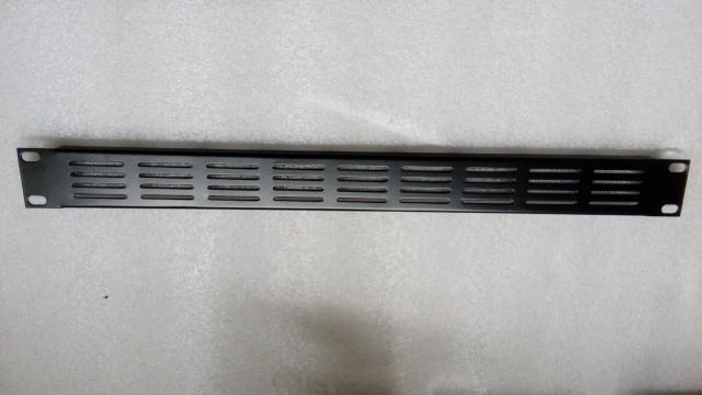 """Lote 2 panel carátula ventilada hierro 1 unidad altura Rack 19"""""""