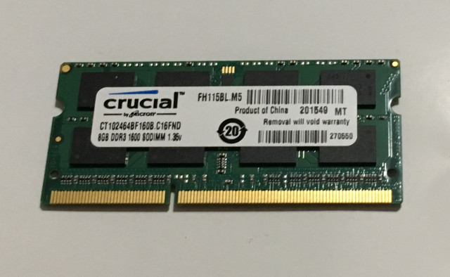 Memoria Ram ddr3 8 Gb 1600