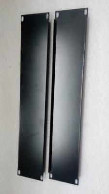 """Lote 2 panel carátula ciega 2 unidades altura hierro Rack 19"""""""