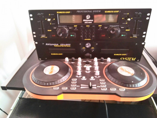 akiyama cd doble y controladora