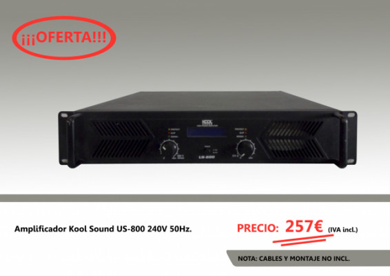 Amplificador Kool Sound US-800 240V 50Hz