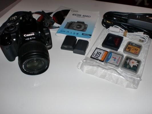 Canon EOS 400D  ---- Cambio por objetivo 70-500mm (Abonando la diferencia)