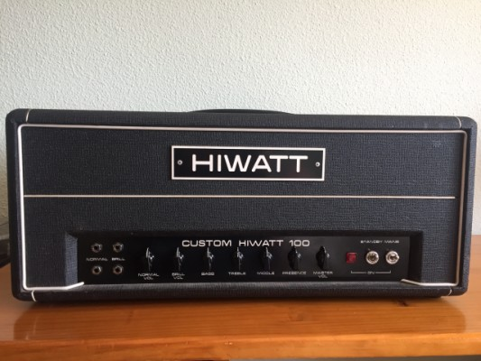 HIWATT CUSTOM 100 AÑO 77 + PANTALLA 4X12 AÑO 71