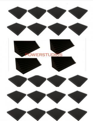 Promoción kit 20 Paneles Acústicos 49x49x7cm optimal pyramid+4 trampas 100x30x30,`Nuevos en stock` envío incluido