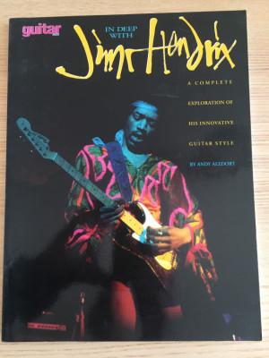 """Libro para guitarra: """"In Deep with Jimi Hendrix"""" de Andy Aledort"""