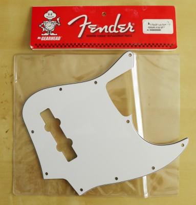 PICKGUARD ORIGINAL FENDER USA WHITE JAZZ BASS 10 HOLES TRES CAPAS