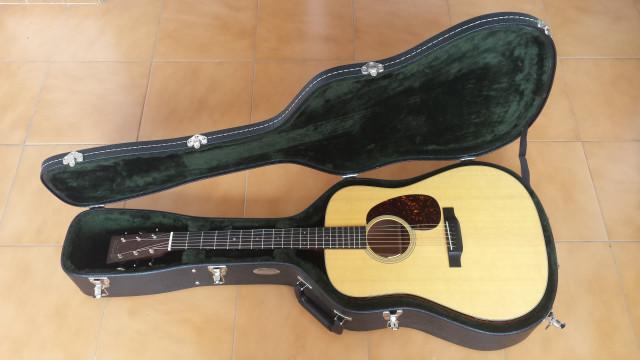 Guitarra acústica Martin D-18, con L.R. Baggs Anthem SL pickup