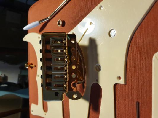 Gold Stratocaster  Tremolo, Neck plate. Nuevos