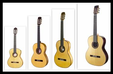 guitarras flamencas, clásicas y semiprofesiones
