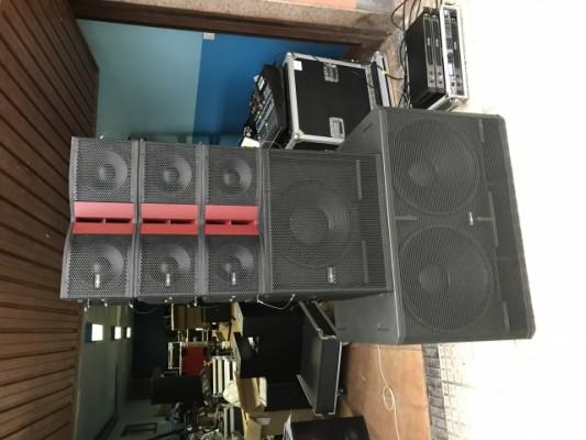 4 subgraves audiocenter pf218+ y 2 etapas de potencia va-1201