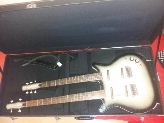 Danelectro doble mástil bajo/guitarra