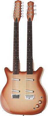 Danelectro DB612-CB, guitarra con doble mastil 6 y 12 cuerdas