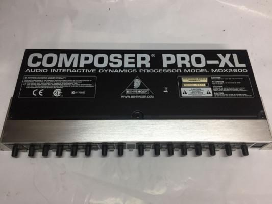Compresor Behringer Pro-XL MDX2600 COMPOSER PRO-XL
