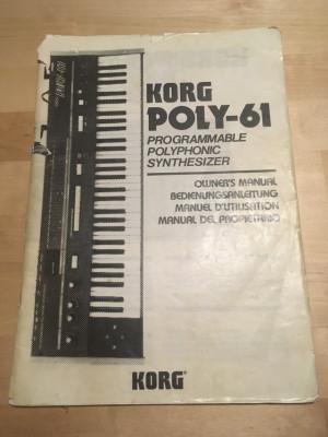 Manual Korg Poly 61