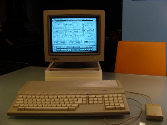 Atari 1040 ST + monitor SM 146  + raton STM1
