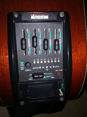 Electroacústica washburn D42SCE